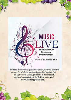 The royal DUO live music entertainment - 23.3. (piatok) o 18.hod.